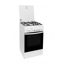Кухонная плита Greta 1470-00-07 белая (чугунные решётки)